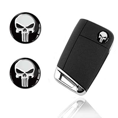 2 x 3D Punisher Keyless Entry Stickers KS 161: Automotive