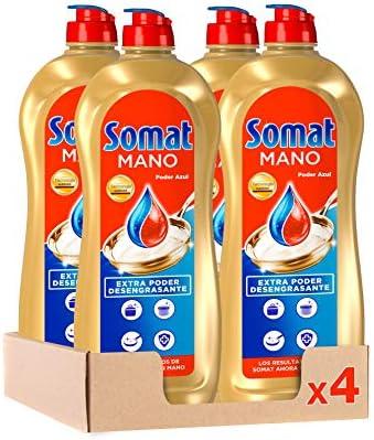 Somat Lavavajillas Mano Poder Azul – Pack de 4, Total 3.8 L ...