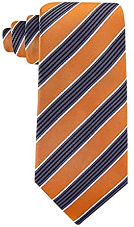 Scott Allan Men's Quad Stripe Necktie - Orange