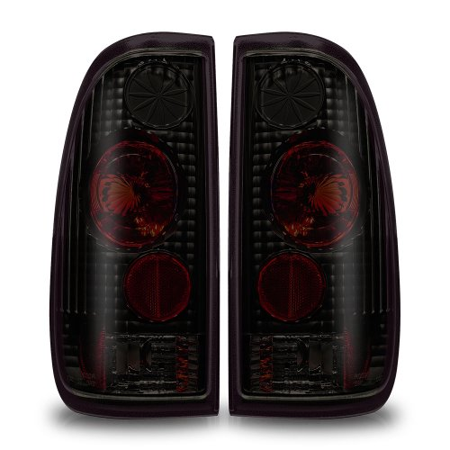Winjet WJ20-0016-05 Altezza Style Tail Lights for 1997-2003 Ford F-150 F-250 F-350 - Black/Smoke
