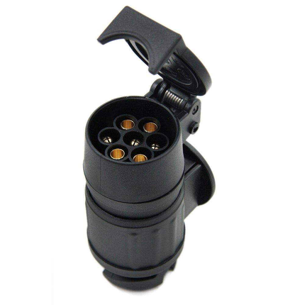 SmartSpec 13 A 7 Pin rimorchio Adattatore Nero Luce Cablaggio connettore Gancio di Traino Spina 12 N
