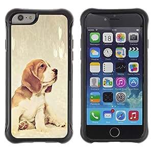 Suave TPU GEL Carcasa Funda Silicona Blando Estuche Caso de protección (para) Apple Iphone 6 PLUS 5.5 / CECELL Phone case / / Beagle Foxhound Puppy Baby Dog /
