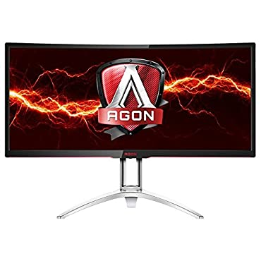 "AOC Agon AG352UCG 35"" Curved Gaming Monitor, G-Sync, 21:9, 3440x1440 Res, 300 cd/m2,100hz, 4ms,DP,HDMI, USB"