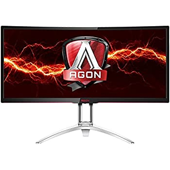 "AOC AGON AG352UCG 35"" Curved Gaming Monitor, G-SYNC, WQHD (3440x1440), VA Panel, 100Hz, 4ms, Height Adjustable, DisplayPort, HDMI, USB 3.0"