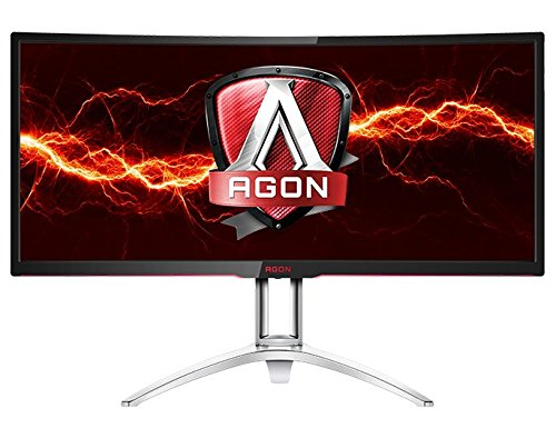 AOC Agon AG352UCG 35' Curved Gaming Monitor, G-SYNC, WQHD (3440x1440), VA Panel, 100Hz, 4ms, Height Adjustable, DisplayPort, HDMI, USB 3.0