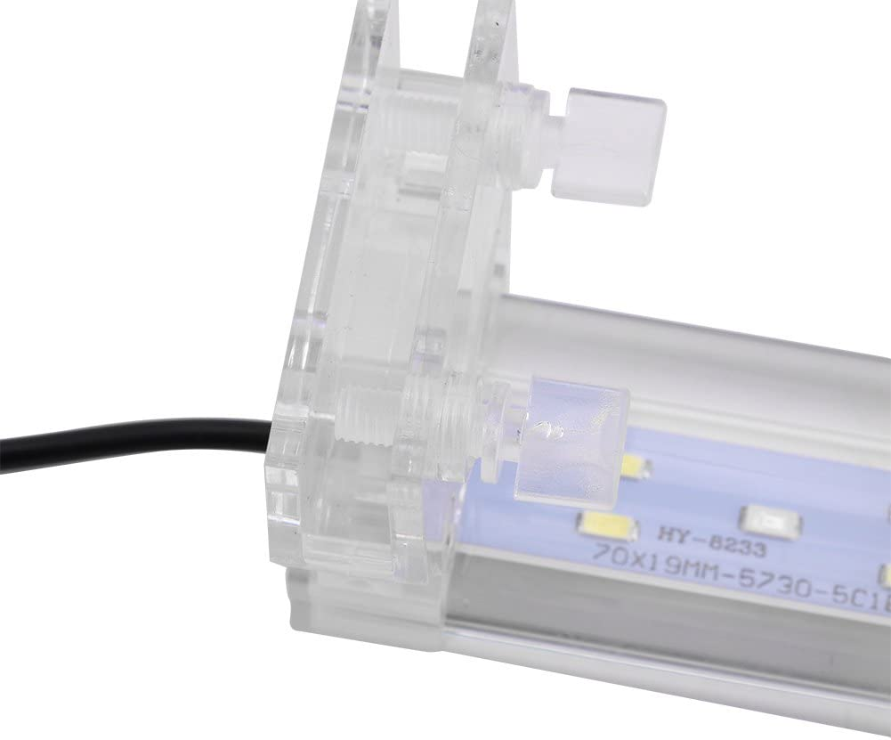 160#3 Fdit LED Luz Tanque de Peces Iluminaci/ón para Decoraci/ón de Acuario L/ámpara de Burbujas Resistente Agua Acuario L/ámpara de Planta Crece
