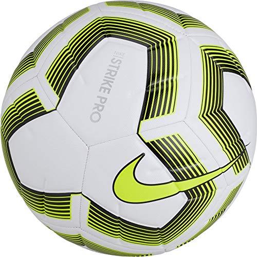 - Nike Strike Pro Team Soccer Ball (White/Volt/Black) Size 5