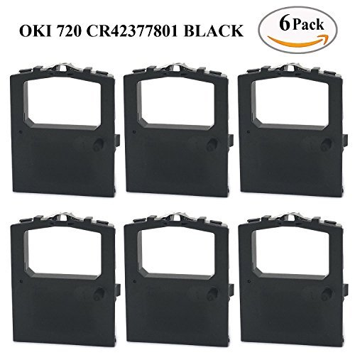 MARS POS Ribbons Compatible for Okidata 42377801 Ribbon 6 Pack Black Printer Ribbon Cartridges Replaces Following Models Oki Microline 420 420n 421 421n 490 490n 491 491n 720 721 790 (Okidata Oki Black Ribbon Cartridge)