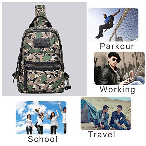 Women Army Men Backpack For amp; Bag Waterproof Wolfrealm Crossbody Shoulder Green Sling A8wvqv