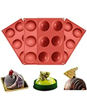 Silicone Molds, Large 6 Holes Semi Sphere Chocolate Molds, BPA Free Silicone Baking Mold for Making Hot Chocolate Bombs, Cake, Jelly, Dome Mousse (4 Pack)