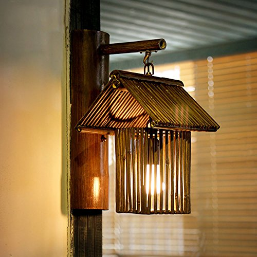 Southeast Bamboo Decorative Wall Lamp Creative Aisle Cafe Antique Farmhouse Handmade Bamboo Light 300220400Mm,B Outdoor Kids Living Room Bedroom Wedding Birthday Party Gift