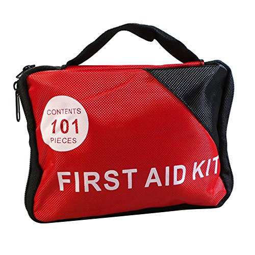 Connoworld Clearance Sale 101 Pcs/Set Outdoor Medical Survival Bag Sports Travel Emergency First Aid Kit for ()