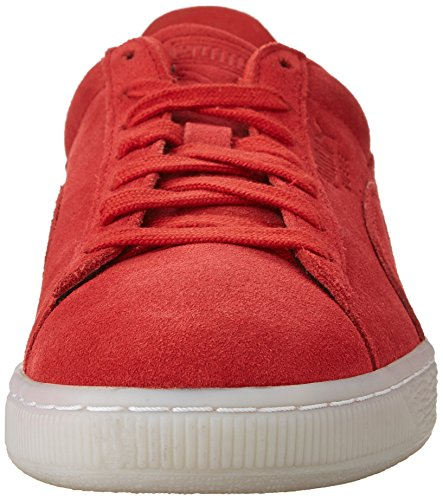 Sneakers Da Uomo In Pelle Scamosciata Con Punta Arrotondata Color Verde Scamosciato
