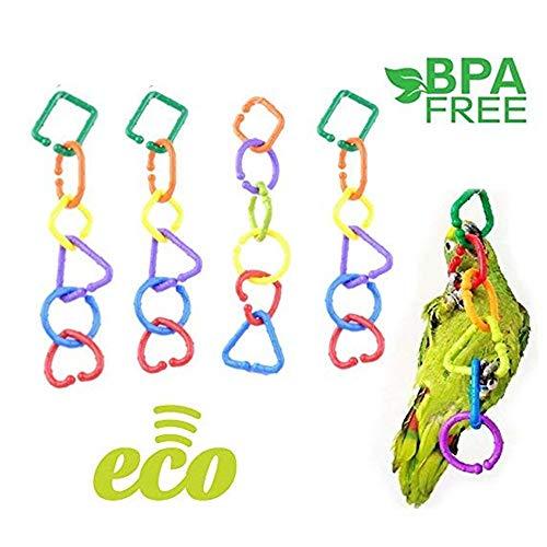 WANGDAFANG 24PCS Big Mixed Shape DIY Large Size Chain Links Plastic Neon Toy ()