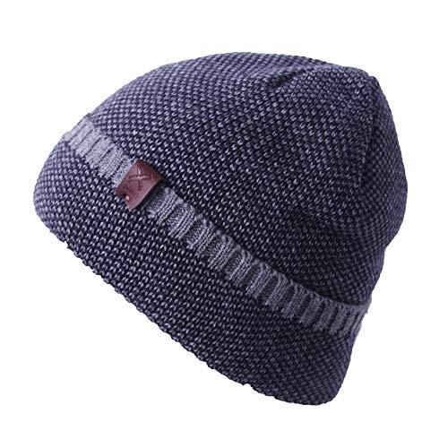 (MRQ Winter Knit Slouchy Beanie Hat for Women Men Warm Ski Skull Cap Fleece Lining)