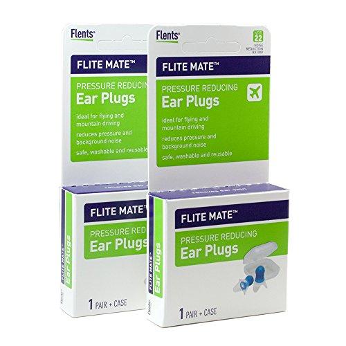 Flents Flite Mate Pressure Reducing Ear Plugs - flight ear plugs (Pack of 2)