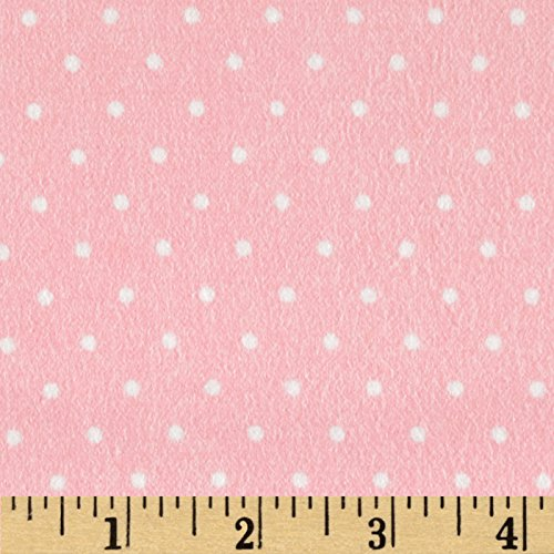 Robert Kaufman Cozy Cotton Flannel Mini Dots Rose Fabric by The Yard, ()