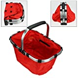 divinext Designer Folding Camping Basket Shopping Fruit Laundry Picnic Handbag Bag Case