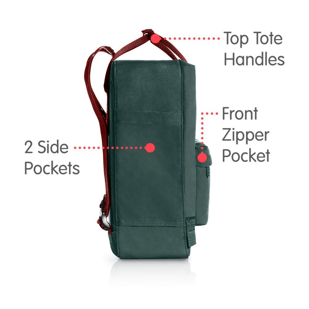 Fjallraven - Kanken Classic Backpack for Everyday, Forest Green/Ox Red by Fjallraven (Image #4)
