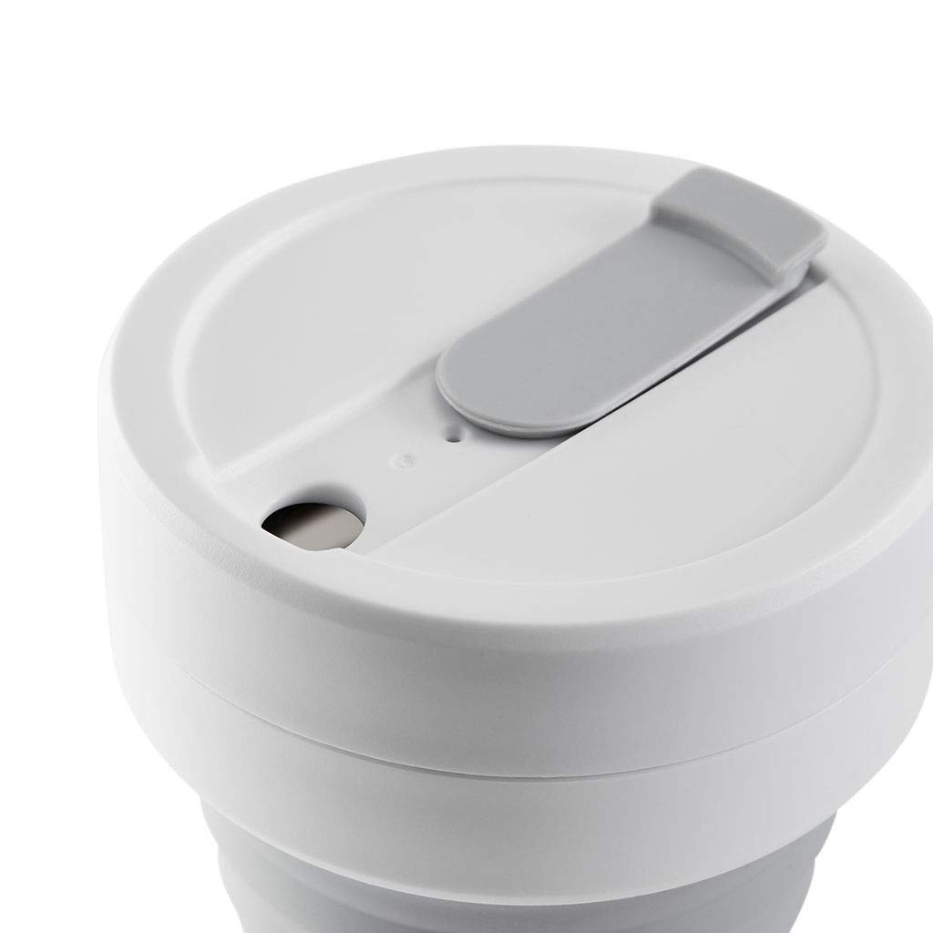 16 oz Rose Stojo S2-ROS Collapsible Silicone Cup Coffee