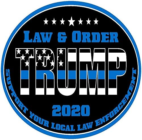 TRUMP THIN BLUE LINE LAW /& ORDER 2020 SUPPORT LAW ENFORCEMENT DECAL