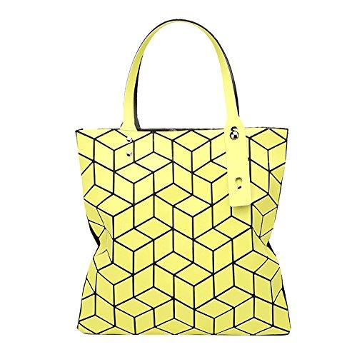 Geometría Bolso Lingge Plegable Mate Bolso Moda Bolso De Mujer G