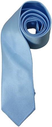 Corbata de niño (hay que hacer nudo) en satén de 4 a 12 años azul ...