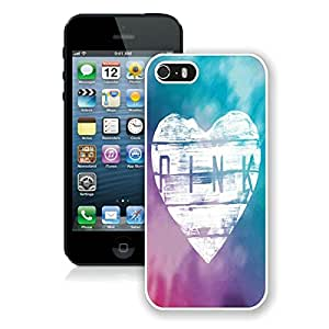 Popular iPhone 5 5S Case ,Victoria's Secret Love Pink 03 White iPhone 5 5S Screen Case Hot Sale And Fashionable Designed Cover Case