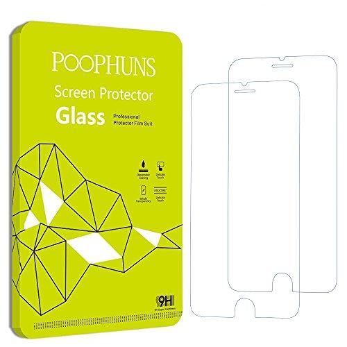 iPhone 6s 6 Schutzfolie, POOPHUNS 2Stück Panzerglas iPhone6s 6,iPhone6s 6 Displayschutzfolie, 9HHärtegrad,99%TransparenzFullHD,EinfachesAnbringen
