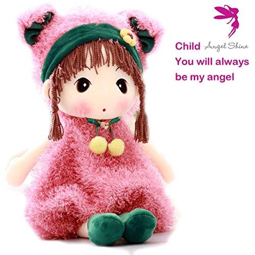 Angel Shine Lovely Huggable 17 inch Stuffed Plush Girl Toy Doll (Pink)
