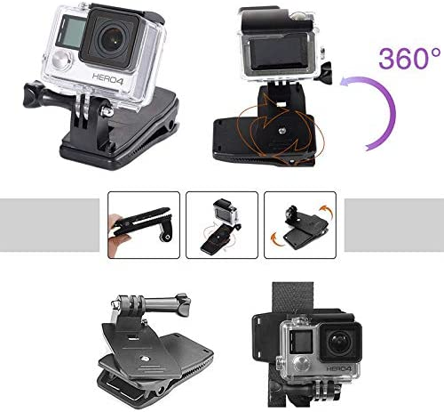 XuBa for OS//MO Pocket Handheld Camera Mounts Bike Backpack ClipTripod Holder for OS//MO Pocket Expansion Accessories