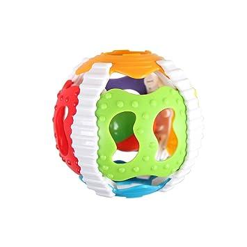 Juguete cemento plástico pelota de juguete del traqueteo del bebé ...