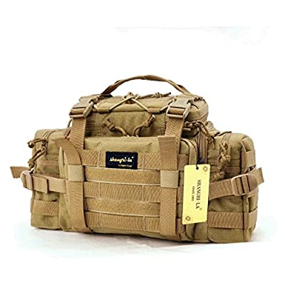 SHANGRI-LA Tactical Assault Gear Sling Pack Range Bag Hiking Fanny Pack Waist Bag Shoulder Backpack EDC Camera Bag MOLLE Modular Deployment Compact Utility Military Surplus Gear Heavy Duty with Shoulder Strap