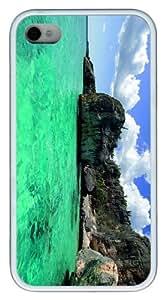 cases custom Green Sea TPU White Case for iphone 4/4S