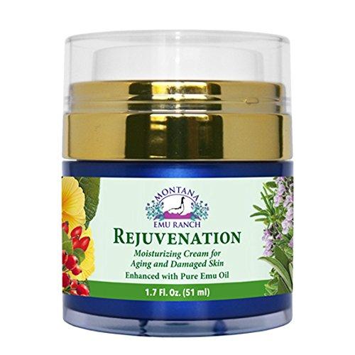 Montana Emu Ranch - Rejuvenation Cream 1.7 Ounces - Enhanced with Pure Emu Oil