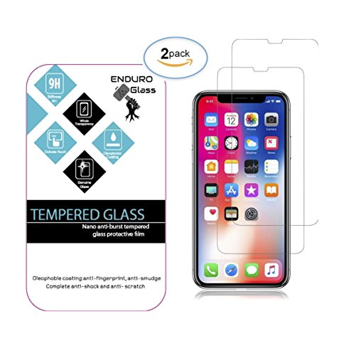 iPhone X Tempered Glass Screen Protector (Clear, 2 Pack) NEW DESIGN is 100%ACCURATE 3D TOUCH. Uses THINNEST .33mm STRONGEST 9H ANTISCRATCH Japanese tempered glass & OPEN EDGE DESIGN to FIT MOST CASES