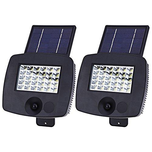 200LM 30 LEDs Solar Powered Wall Light PIR Motion Sensor Lamp - 4