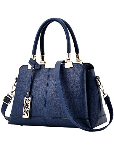 Red Handle PU Womens Bags body Hand Blue Shoulder Bags Cross wg7qH