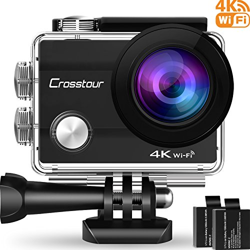 Crosstour 4K Wifi Action Camera Ultra HD Underwater Sport Cam 98ft 2' LCD...