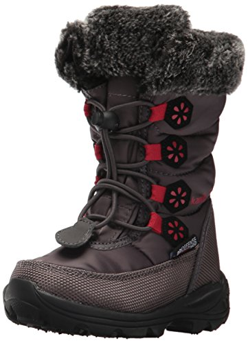 Kamik Girls' Ava Snow Boot, Charcoal/Rose, 1 Medium US Little - Is Com Reliable 6pm