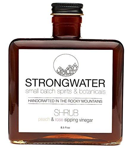 Strongwater Shrub Peach & Rose Sipping Vinegar 8.5 fl oz
