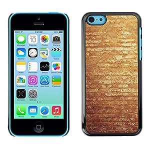 // PHONE CASE GIFT // Duro Estuche protector PC Cáscara Plástico Carcasa Funda Hard Protective Case for iPhone 5C / Vintage pared de ladrillo /
