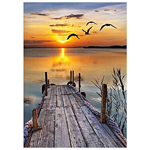 Shoresu Diamond Painting Kits - Sunset Scenery - Full Diamond Painting Kit Cross Stitch Kit Home Decor