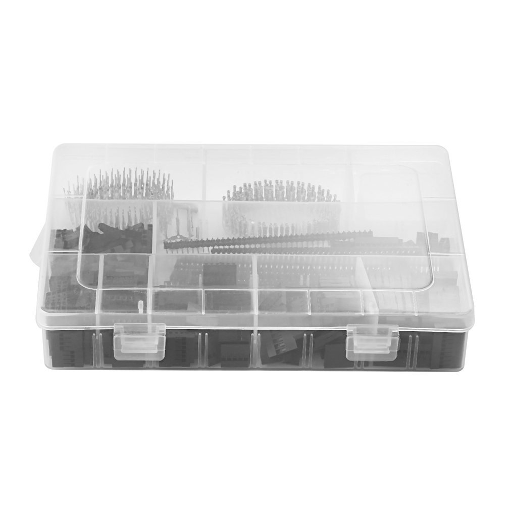 1450Pcs Connector Kit 2.54mm PCB Pin Headers Box Packaging for Arduino Dupont