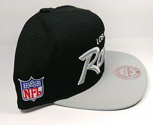 1ee32d892b3 Amazon.com   Mitchell   Ness Los Angeles Raiders Black and White Vintage  Script N.W.A Adjustable Snapback Hat NFL   Sports   Outdoors
