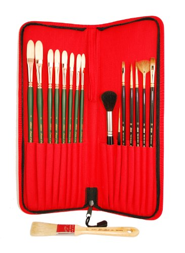 Silver Brush LW-7717 Luana Luconi Winner Traveling Essentials Brush Set, 17 Per Pack by Silver Brush Limited