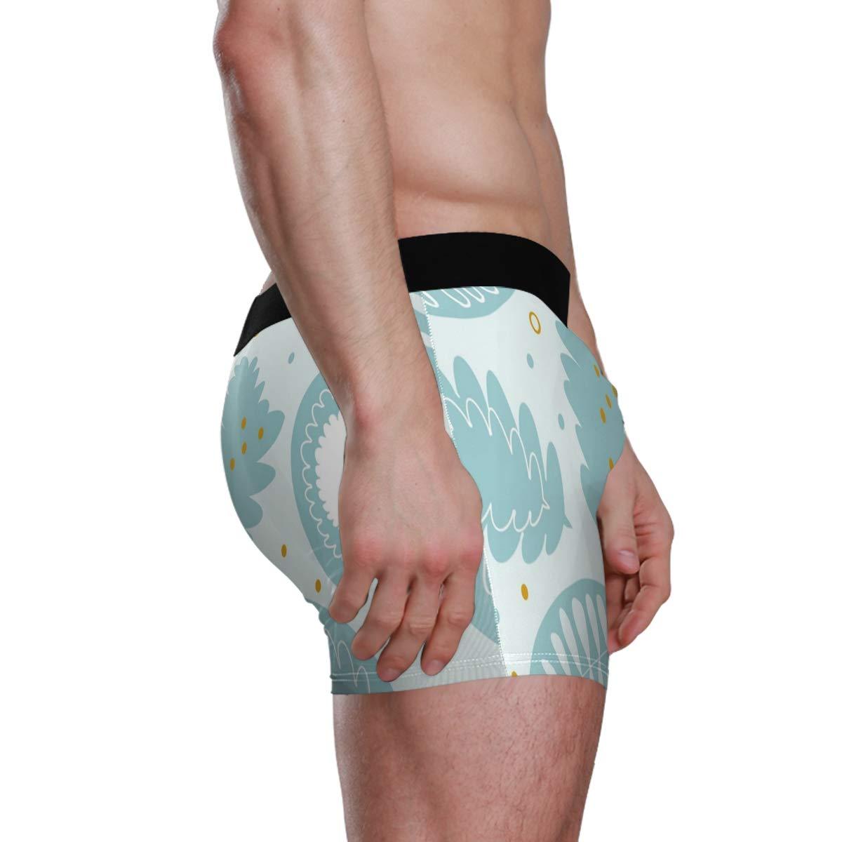 Winter Leawes Vipsk Seamless Stretch Mens Polyester Boxer Briefs Underwear 1-Pack Set