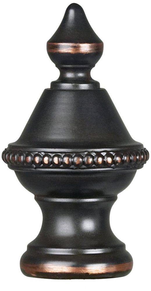Beaded Knob Lamp Shade Finial Spire Oiled Bronze 1.5''h