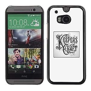 Be Good Phone Accessory // Dura Cáscara cubierta Protectora Caso Carcasa Funda de Protección para HTC One M8 // Keepers Craft Poster Handicraft Diy