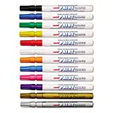 Sanford 63721 Uni-Paint Oil Based Marker, Fine Point, Assorted Inks, 12/Set